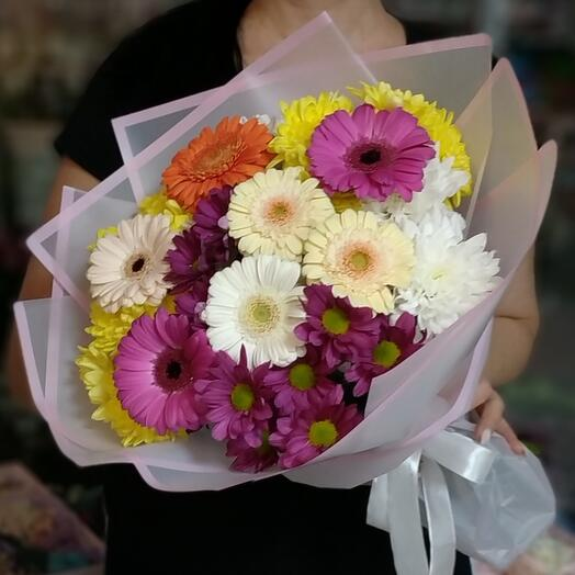 Gerberas and Chrysanthemums