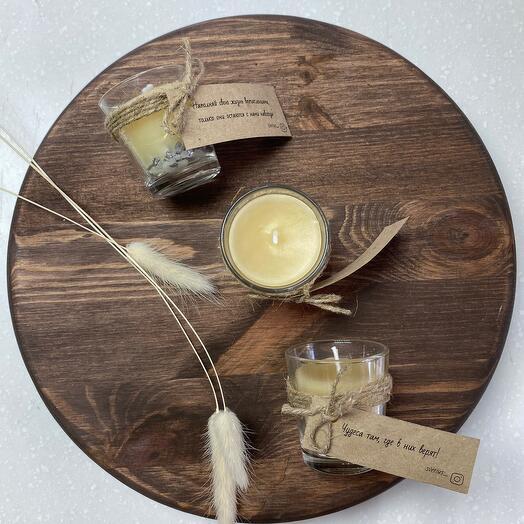 Набор свечей с пожеланиями (3шт)
