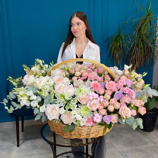VIP КОРЗИНА цветов