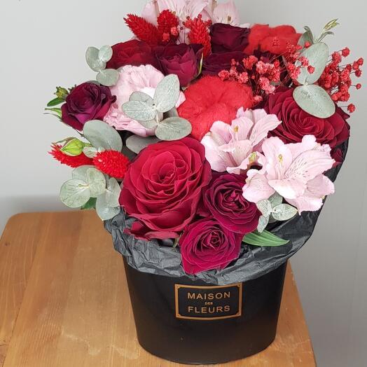 NEW!!! Зефирка с красной розой. Вишневый фреш