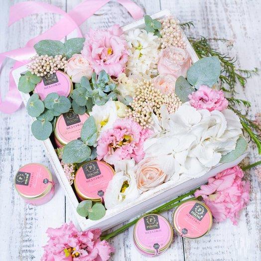 Wood Box 05арт1605: букеты цветов на заказ Flowwow