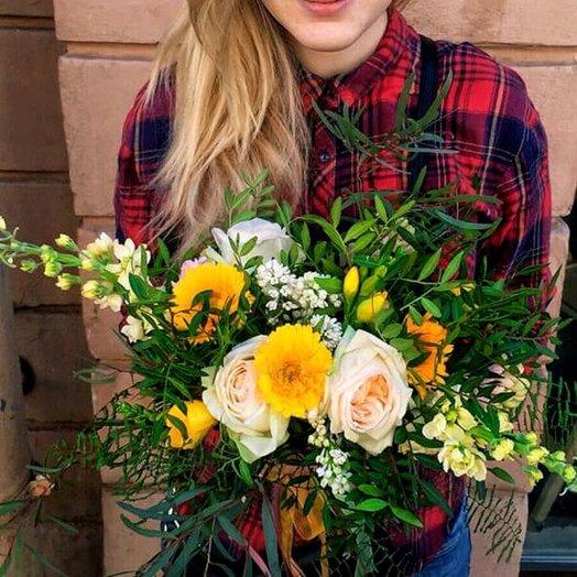Солнечное настроение букет: букеты цветов на заказ Flowwow