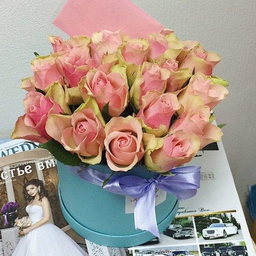 21 роза в коробке: букеты цветов на заказ Flowwow