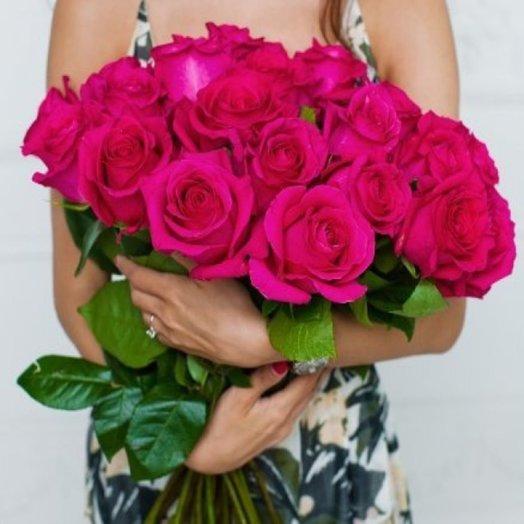 25 роз Pink Floyd (Эквадор): букеты цветов на заказ Flowwow