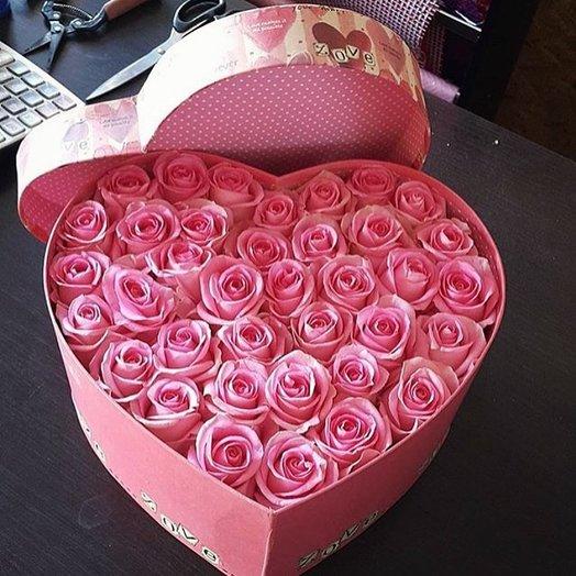 Сердце с любовью: букеты цветов на заказ Flowwow