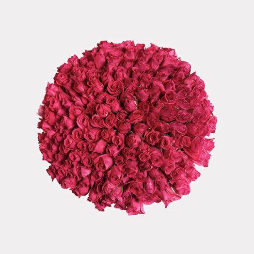 Букет из 151 розовой голландской розы 50 см: букеты цветов на заказ Flowwow