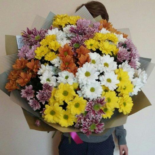 Букет из 21 хризантемы.: букеты цветов на заказ Flowwow