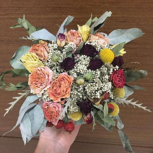 Осенний сухоцвет: букеты цветов на заказ Flowwow