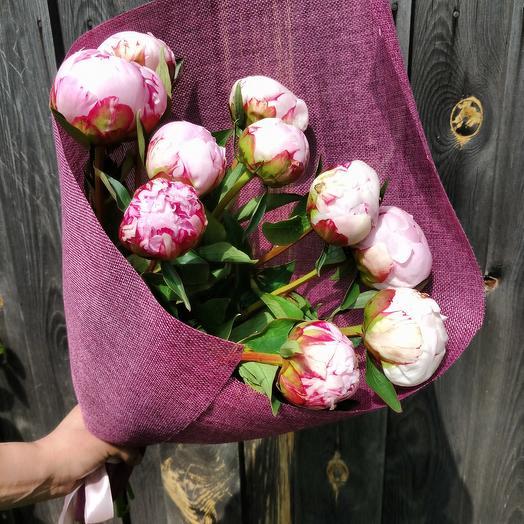 Свежие пионы: букеты цветов на заказ Flowwow