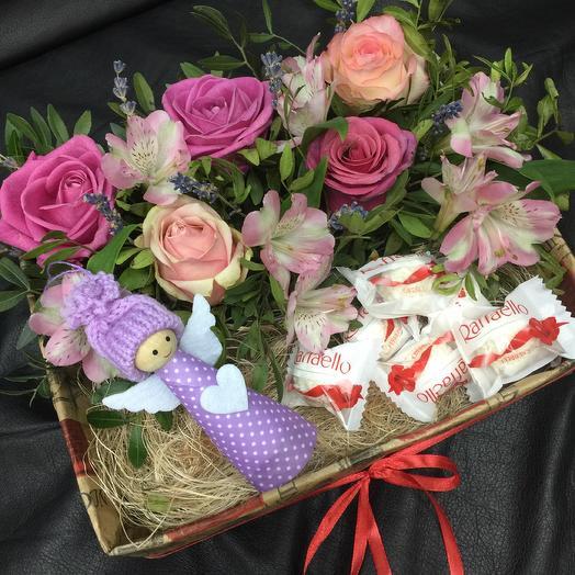 Коробочка «Ангел»: букеты цветов на заказ Flowwow