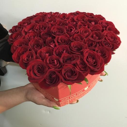 Сердце для тебя: букеты цветов на заказ Flowwow
