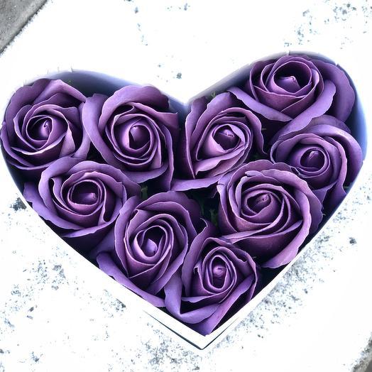 9 мыльных роз в коробочке: букеты цветов на заказ Flowwow