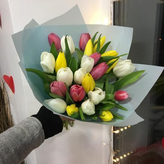 Микс из тюльпан: букеты цветов на заказ Flowwow