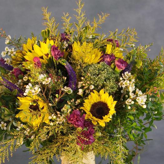 Букет «подсолнух»: букеты цветов на заказ Flowwow
