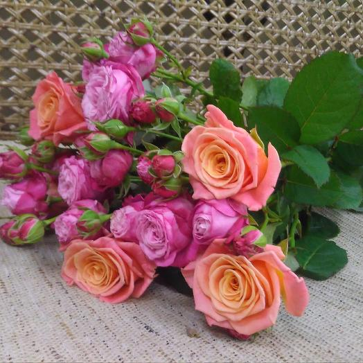 Розы под лентой: букеты цветов на заказ Flowwow