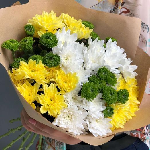 """Букет из 9 хризантем """"Новая волна"""": букеты цветов на заказ Flowwow"""