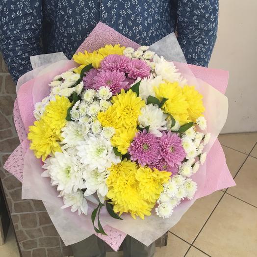 Хризантемы кустовые: букеты цветов на заказ Flowwow