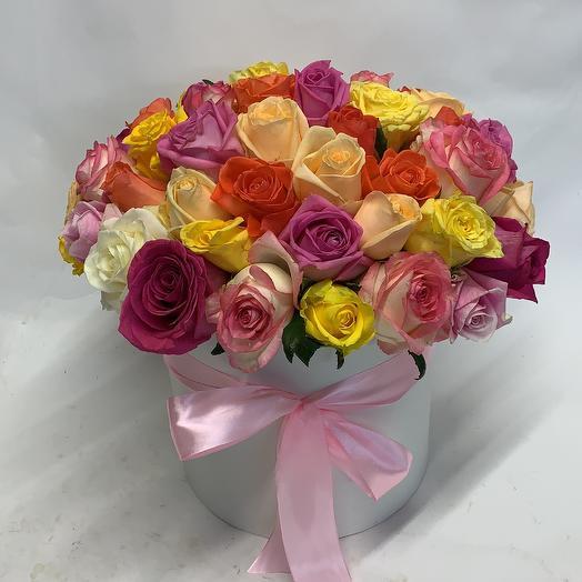 51 Роза мих в коробке: букеты цветов на заказ Flowwow