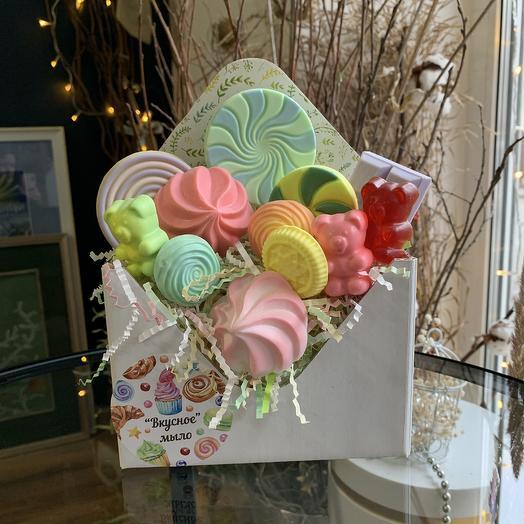 Мыльный «сладкий набор»: букеты цветов на заказ Flowwow