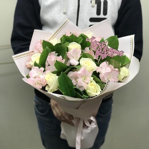 Орхидеи и розы для мамы: букеты цветов на заказ Flowwow