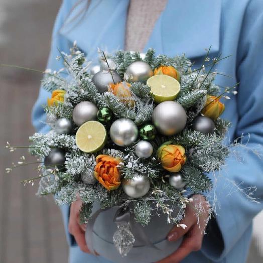 Лимонный Новый Год: букеты цветов на заказ Flowwow