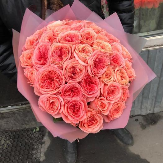 Пионовидные розы 41 шт: букеты цветов на заказ Flowwow