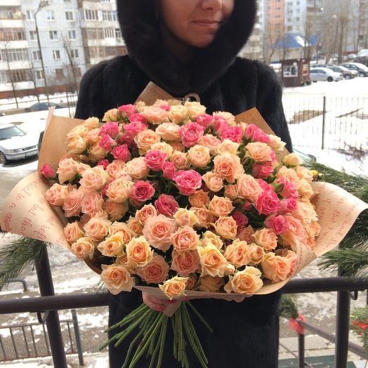 39 кустовых роз🎉🎉🎉🎊🎊: букеты цветов на заказ Flowwow