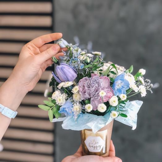 Цветочный стаканчик: букеты цветов на заказ Flowwow