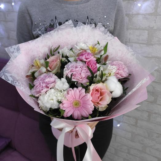 Розовый ассорти: букеты цветов на заказ Flowwow