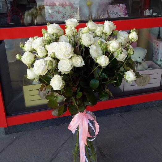 Букет из пионовидной розы сорта Бомбастик: букеты цветов на заказ Flowwow