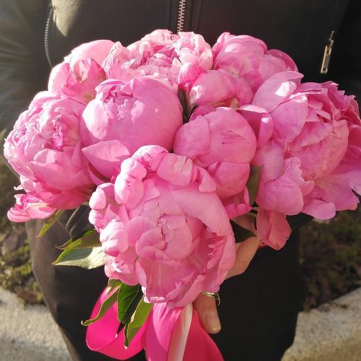Букет «Пионы на десерт»: букеты цветов на заказ Flowwow