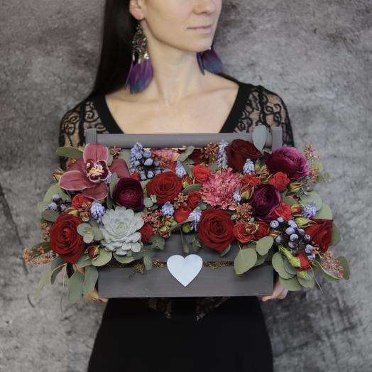 Композиция «Полночь»: букеты цветов на заказ Flowwow