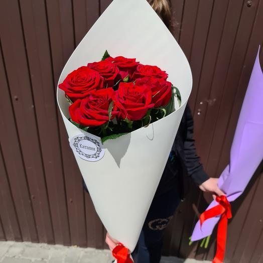 7 роз высоких: букеты цветов на заказ Flowwow