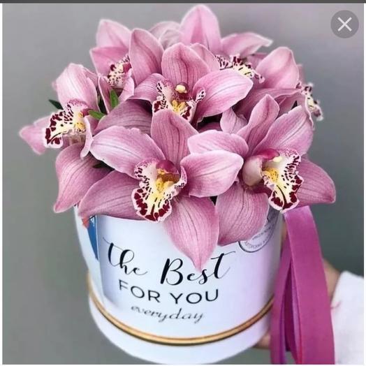 Коробка с королевской орхидеей