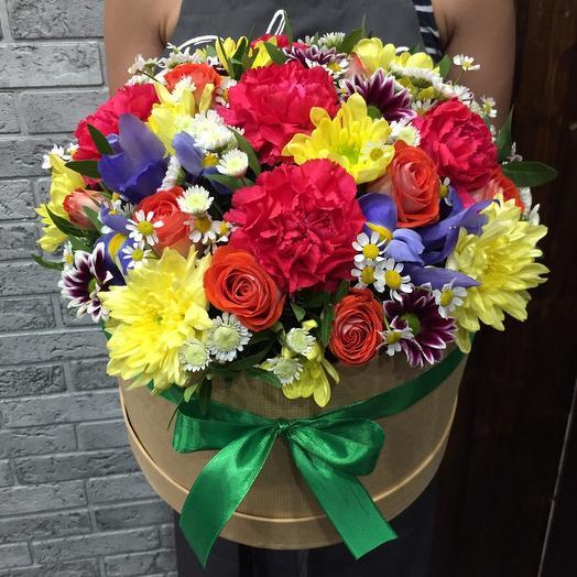 Цветы в коробке 28