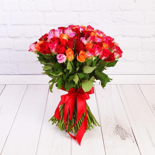 Букет 101 роза Кения