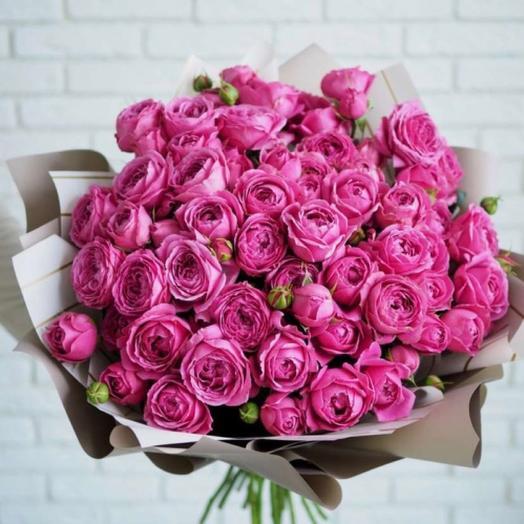 Букет кустовые пионовидные Розы