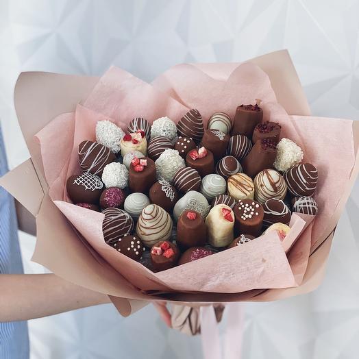 Букет из клубники в шоколаде «Дамский каприз»