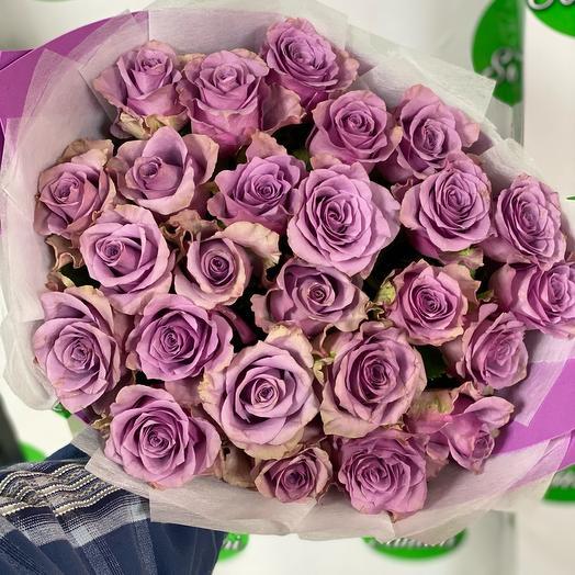 25 фиолетовых роз