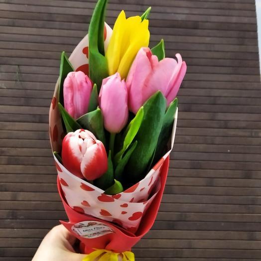 5 тюльпанов