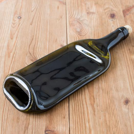 Сервировочная тарелка-бутылка