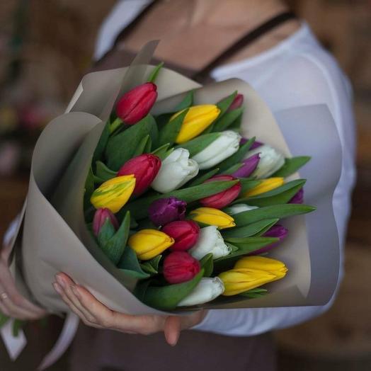 Тюльпаны яркий Микс 21шт