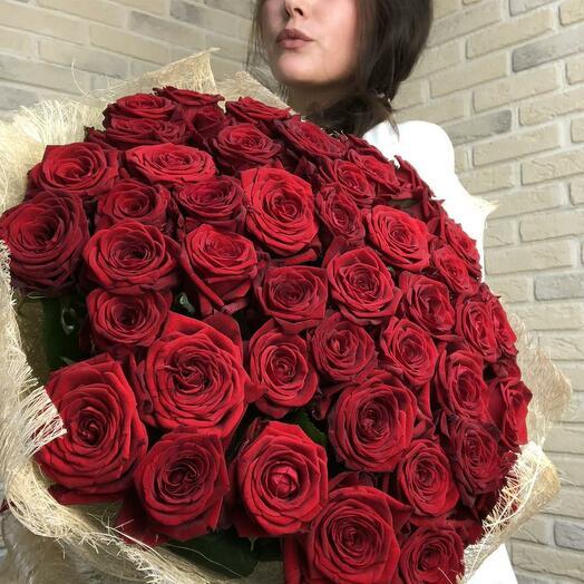 Роза ред наоми 51 шт
