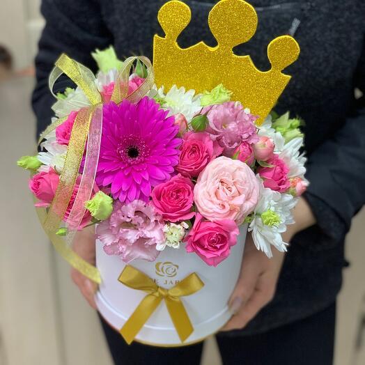 Цветы в коробке принцесса