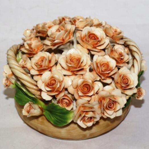 """Цветы из фарфора """"Чайные розы"""""""