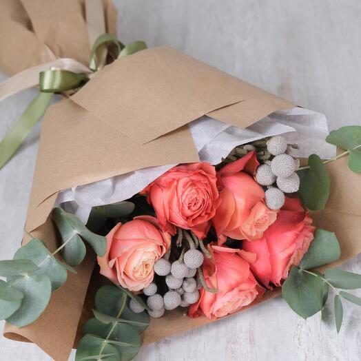 Персиковые розы Кахала / Craft 001