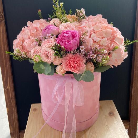 Цветы в коробке «Великолепный век»