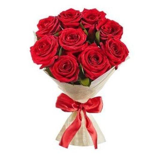 Букет из 9 красных роз: букеты цветов на заказ Flowwow