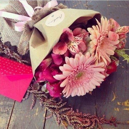Букет с герберами и альстромерией: букеты цветов на заказ Flowwow