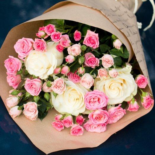 Букет из розочек: букеты цветов на заказ Flowwow